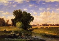 Hackensack Meadows, Sunset painting reproduction, George Inness