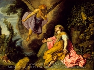 Hagar and the Angel painting reproduction, Pieter Lastman