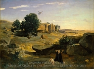 Hagar in the Wilderness painting reproduction, Jean-Baptiste Camille Corot