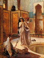 Harem Bath painting reproduction, Rudolph Ernst