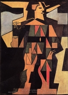 Harlequin painting reproduction, Juan Gris
