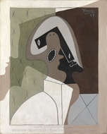 Harlequin painting reproduction, Pablo Picasso (inspired by)