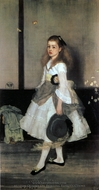 Harmony in Grey and Green, Miss Cicely Alexander painting reproduction, James McNeill Whistler