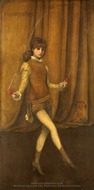 Harmony in Yellow and Gold: the Gold Girl (Connie Gilchrist) painting reproduction, James McNeill Whistler