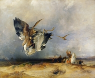 Hawking in the Olden Time painting reproduction, Sir Edwin Landseer