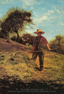 Haymaking painting reproduction, Winslow Homer