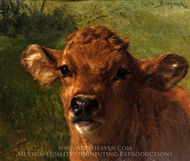 Head of a Calf painting reproduction, Rosa Bonheur