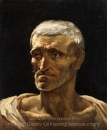 Head of a Shipwrecked Man painting reproduction, Theodore Gericault