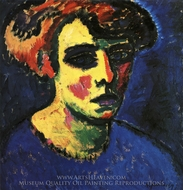 Head of a Woman painting reproduction, Alexei Von Jawlensky