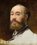 Head of Jean-Baptiste Faure painting reproduction, Edouard Manet