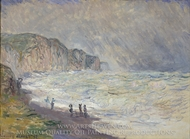 Heavy Sea at Pourville painting reproduction, Claude Monet