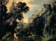 Hebe with the Eagle of Jupiter painting reproduction, Paul Bril