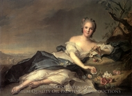 Henriette de France en Flore painting reproduction, Jean Marc Nattier