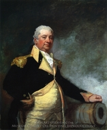 Henry Knox painting reproduction, Gilbert Stuart