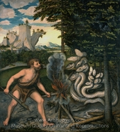 Hercules and the Hydra painting reproduction, Lucas Cranach