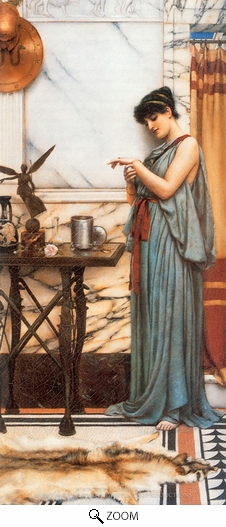 John William Godward, His Birthday Gift oil painting reproduction