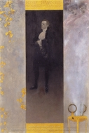 Hofburg Actor Josef Lewinsky as Carlos painting reproduction, Gustav Klimt