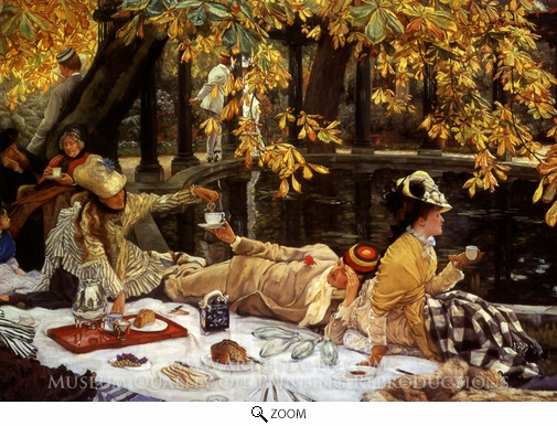 James Tissot, Holiday (The Picnic) oil painting reproduction