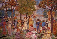 Holidays painting reproduction, Maurice Prendergast