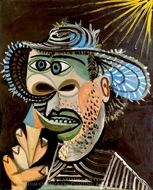 Homme au Cornet de Glace painting reproduction, Pablo Picasso (inspired by)
