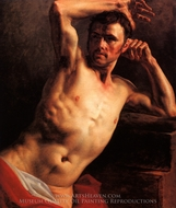 Man Naked to the Waist (Homme Nu a Mi-Corps) painting reproduction, Theodore Gericault