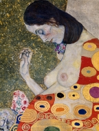 Hope II (detail) painting reproduction, Gustav Klimt