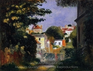 House and Figures among the Trees painting reproduction, Pierre-Auguste Renoir
