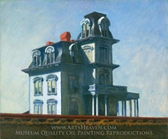 House by the Railroad painting reproduction, Edward Hopper