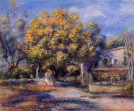 Houses at Cagnes painting reproduction, Pierre-Auguste Renoir