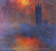 Houses of Parliament, London painting reproduction, Claude Monet
