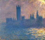 Houses of Parliament, Sunlight Effect painting reproduction, Claude Monet