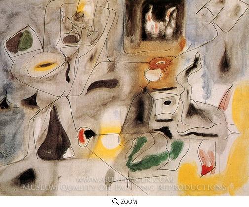Arshile Gorky, Hugging, Good Hope Road II oil painting reproduction