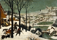 Hunters in the Snow painting reproduction, Pieter Bruegel