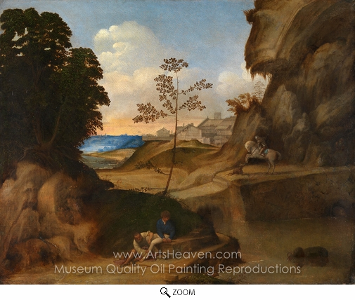 Giorgione, Il Tramonto (The Sunset) oil painting reproduction