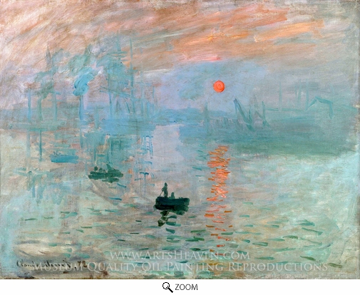 Claude Monet, Impression Sunrise oil painting reproduction