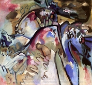 Improvisation 21a painting reproduction, Wassily Kandinsky