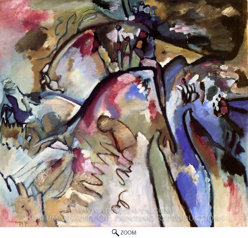 Wassily Kandinsky, Improvisation 21a oil painting reproduction
