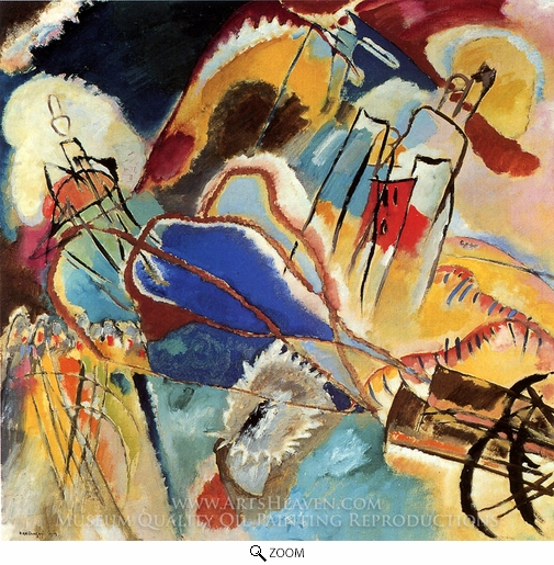 Wassily Kandinsky, Improvisation 30 (Cannons) oil painting reproduction