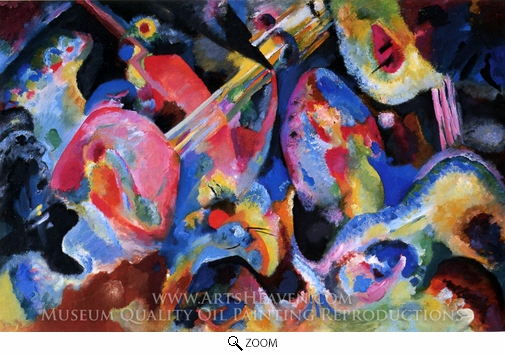 Wassily Kandinsky, Improvisation Deluge oil painting reproduction