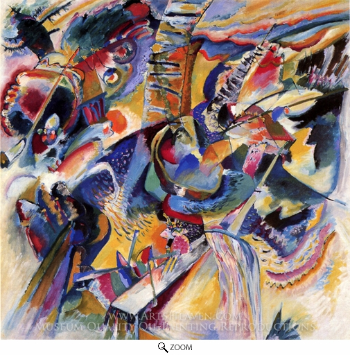 Wassily Kandinsky, Improvisation Gorge oil painting reproduction