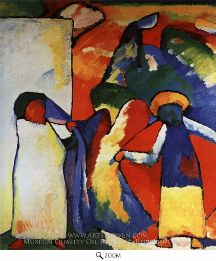 Wassily Kandinsky, Improvization 6 (African) oil painting reproduction