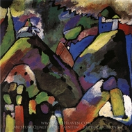 Improvization 9 painting reproduction, Wassily Kandinsky