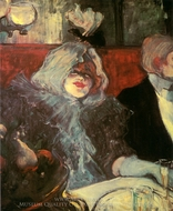 In a Private Room at the Rat Mort painting reproduction, Henri De Toulouse-Lautrec