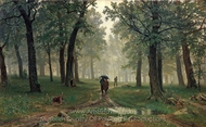 In Oak Forest painting reproduction, Ivan Shishkin