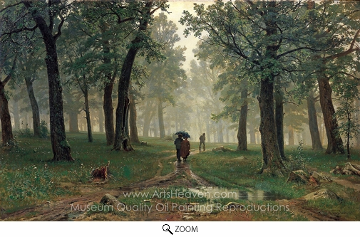 Ivan Shishkin, In Oak Forest oil painting reproduction
