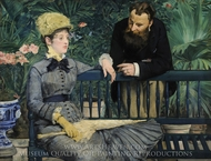 In the Conservatory painting reproduction, Edouard Manet