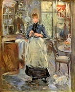 In the Dining Room painting reproduction, Berthe Morisot