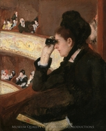 In the Loge painting reproduction, Mary Cassatt