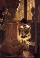 In the Louvre painting reproduction, James Tissot