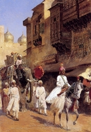 Indian Prince and Parade Ceremony painting reproduction, Edwin Lord Weeks
